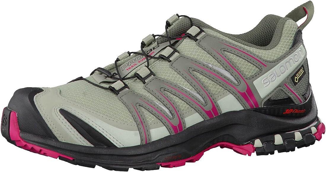Salomon XA Pro 3D GTX, Calzado de Trail Running, Impermeable para Mujer, Gris (Shadow/Black/Sangria), 37 1/3 EU: Amazon.es: Zapatos y complementos