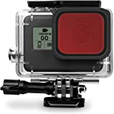 Rhodesy D070 Filtro Rosso per GoPro Hero 6 Hero 5 Custodia Protettiva Impermeabile Custodia