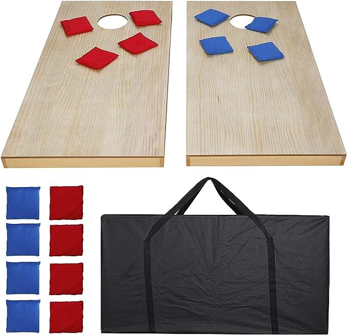 47 Foldable Wooden Bean Bag Toss Cornhole Game Set