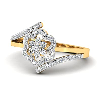 44fa354dd Buy PC Jeweller The Riyanshi 18KT Yellow Gold & Diamond Rings Online at Low  Prices in India | Amazon Jewellery Store - Amazon.in
