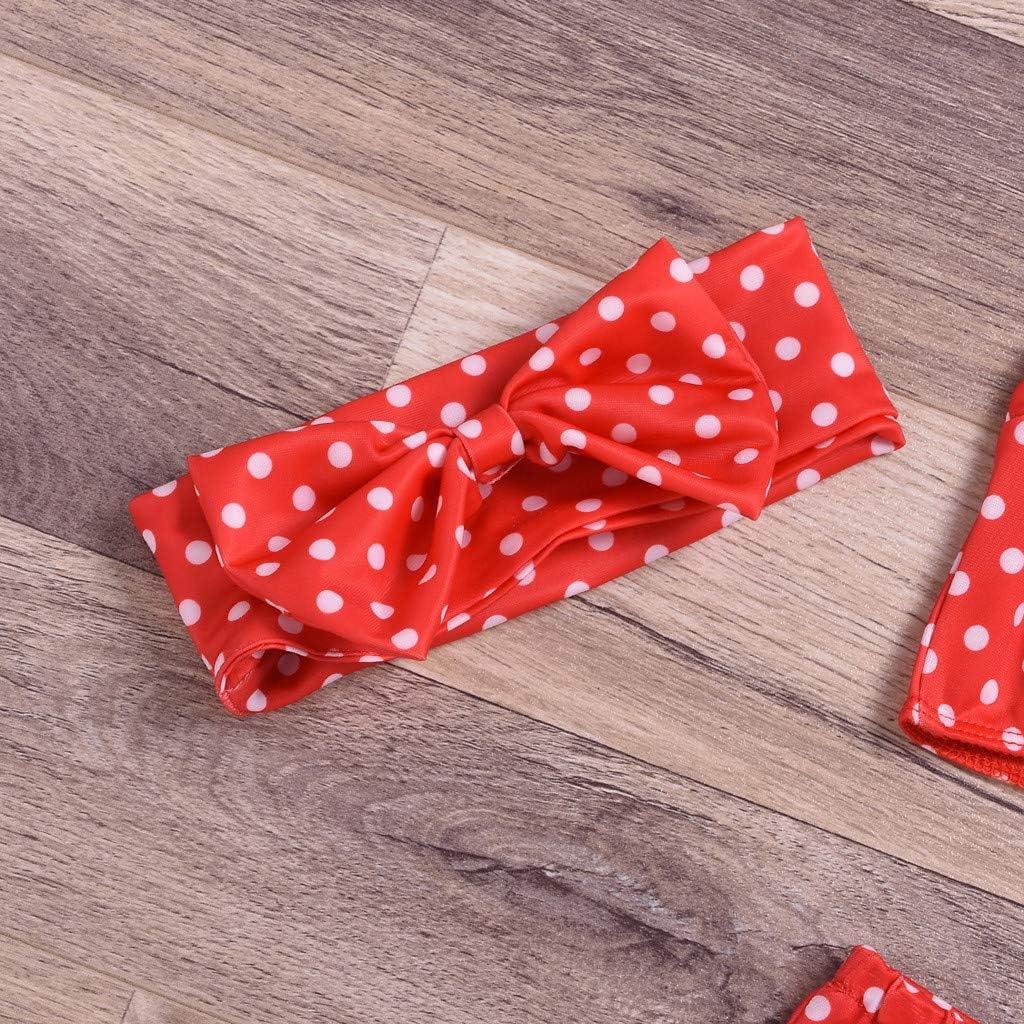 Ariestorm 3 PCs Toddler Baby Girls Dot Print Bow Swimwear Swimsuit Bathing Suit