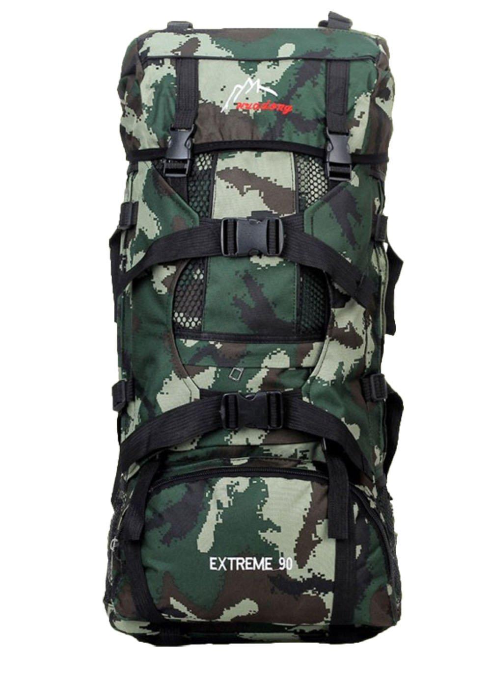 OSdreamスポーツアウトドアMilitary Rucksacks Tactical Molleバックパックキャンプハイキングトレッキングバッグ B00SL3SSLG Dark green camo