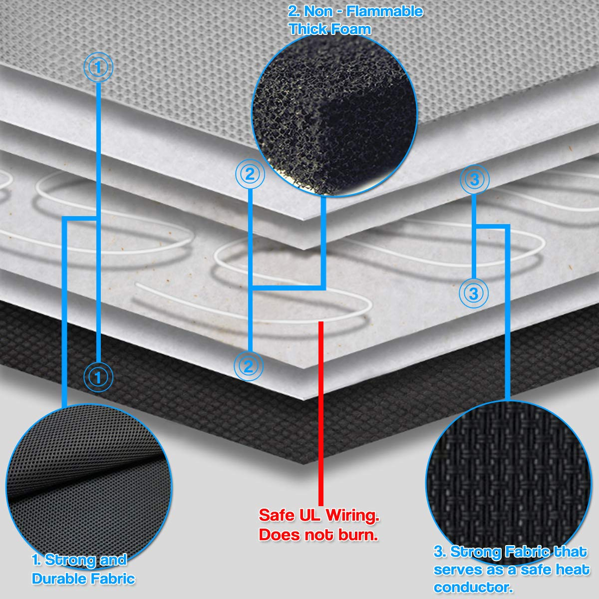 Safer Nonflammable UL Wiring SE44-2 2 Pack Quality Comfortable Heating Warmer Pad Secured Straps Cold Weather Winter Driving Upgraded Version 2019 Zento Deals 12V Heated Car Seat Cushion