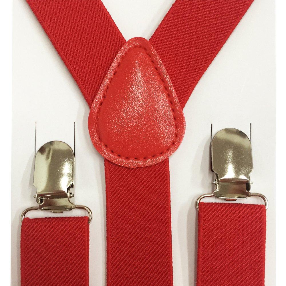 Boys girls Children Kids and Baby Elastic Adjustable 1 inch Suspenders Multi Color