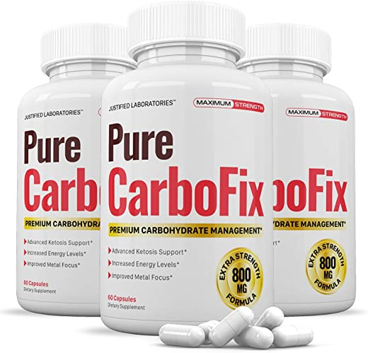 Pure Carbo Fix Carbohydrate Management Formula Carbofix Support for Men Women 3 Bottles