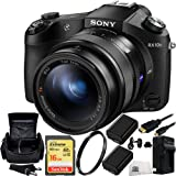 Sony DSC-RX10 II DSC-RX10M II DSC-RX10 Mark II DSCRX10M2/B Cybershot 20.2 MP Digital Still Camera with 3-Inch LCD Screen Bundle. Includes SanDisk 16GB Extreme SDHC Class 10 Memory Card (SDSDXN-016G-G46) + 2 Replacement FW-50 Batteries + AC/DC Rapid Home & Travel Charger + UV Filter + Micro HDMI Cable + Carrying Case + Microfiber Cleaning Cloth