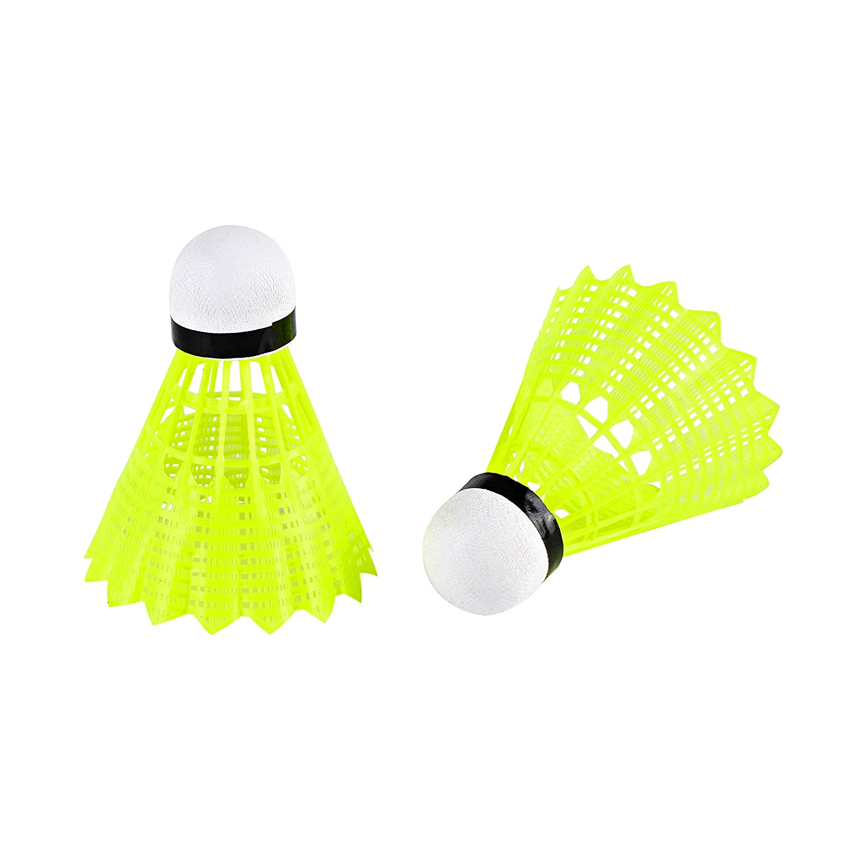 EEM 6-Pack Advanced Nylon Shuttlecocks,Medium Speed Badminton Balls with Great Stability and Durability,Indoor Outdoor Sports Hight Speed Training Badminton Birdies Balls