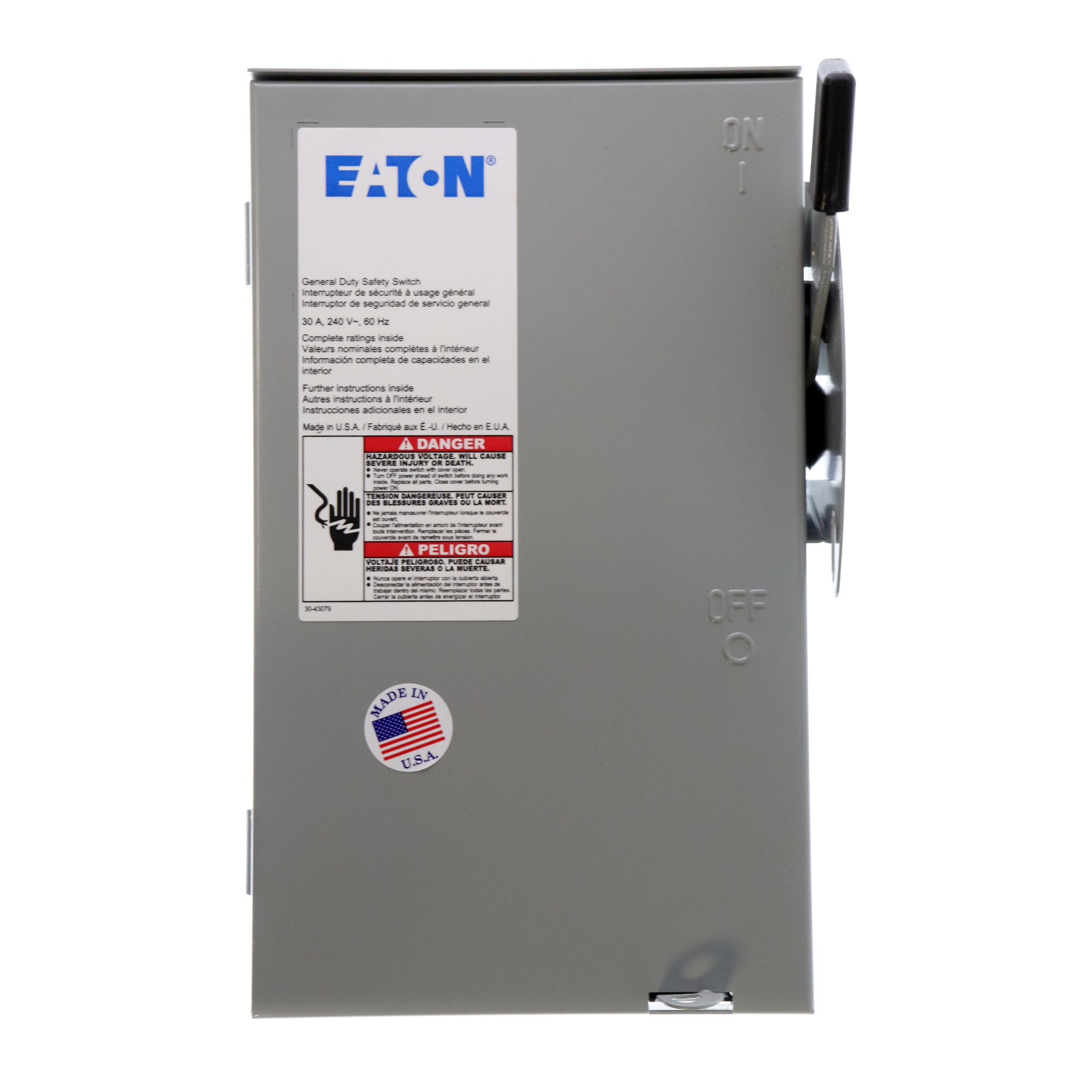Eaton Cutler-Hammer DG321NRB Fusible Safety Switch, NEMA-3R, 30A, 240V, 4-Wire by Cutler & Hammer (Image #1)
