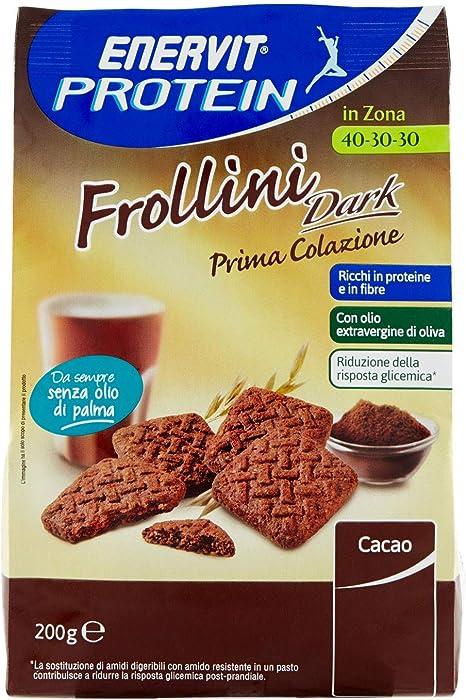 Proteína Enervit Enervit Galletas Oscuro 200g: Amazon.es ...