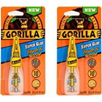 Gorilla Super Glue with Brush & Nozzle Applicator, 10 Gram