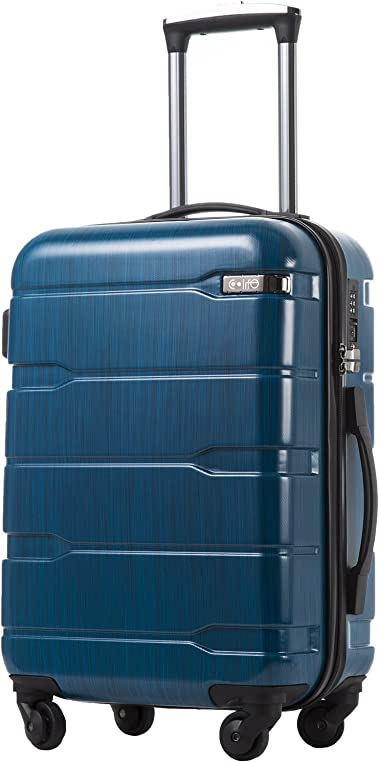 COOLIFE Luggage Expandable PC+ABS Spinner