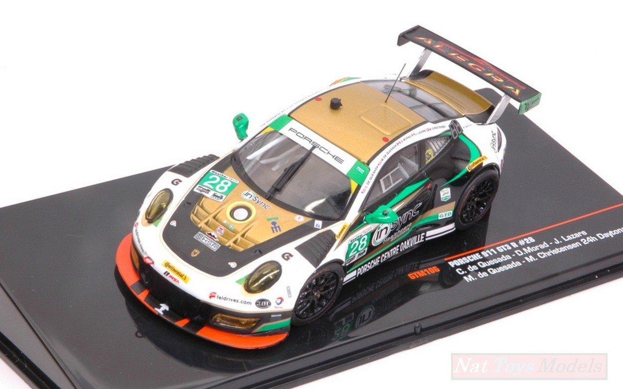 los nuevos estilos calientes IXO Model GTM106 GTM106 GTM106 Porsche 911 GT3 N.28 24H Daytona 2017 QUESADA-MORAD-Lazare 1:43  ahorra hasta un 80%