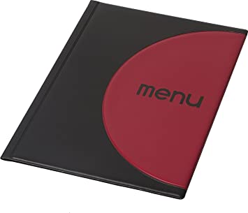 DWA Carta Menú de Mesa Restaurante Pub Hotel Catering Porta Menú 12 Páginas Tamaño A4 Black Red