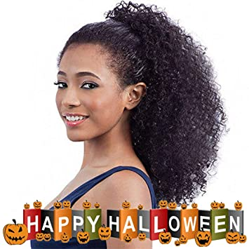 Amazon Afro Kinky Curly Clip Inon Ponytail Extensions Human