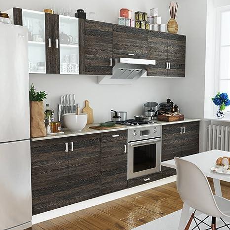 Cucine Componibili In Kit.Anself 8 Pz Kit Armadi Cucina Componibile Legno Con Unita