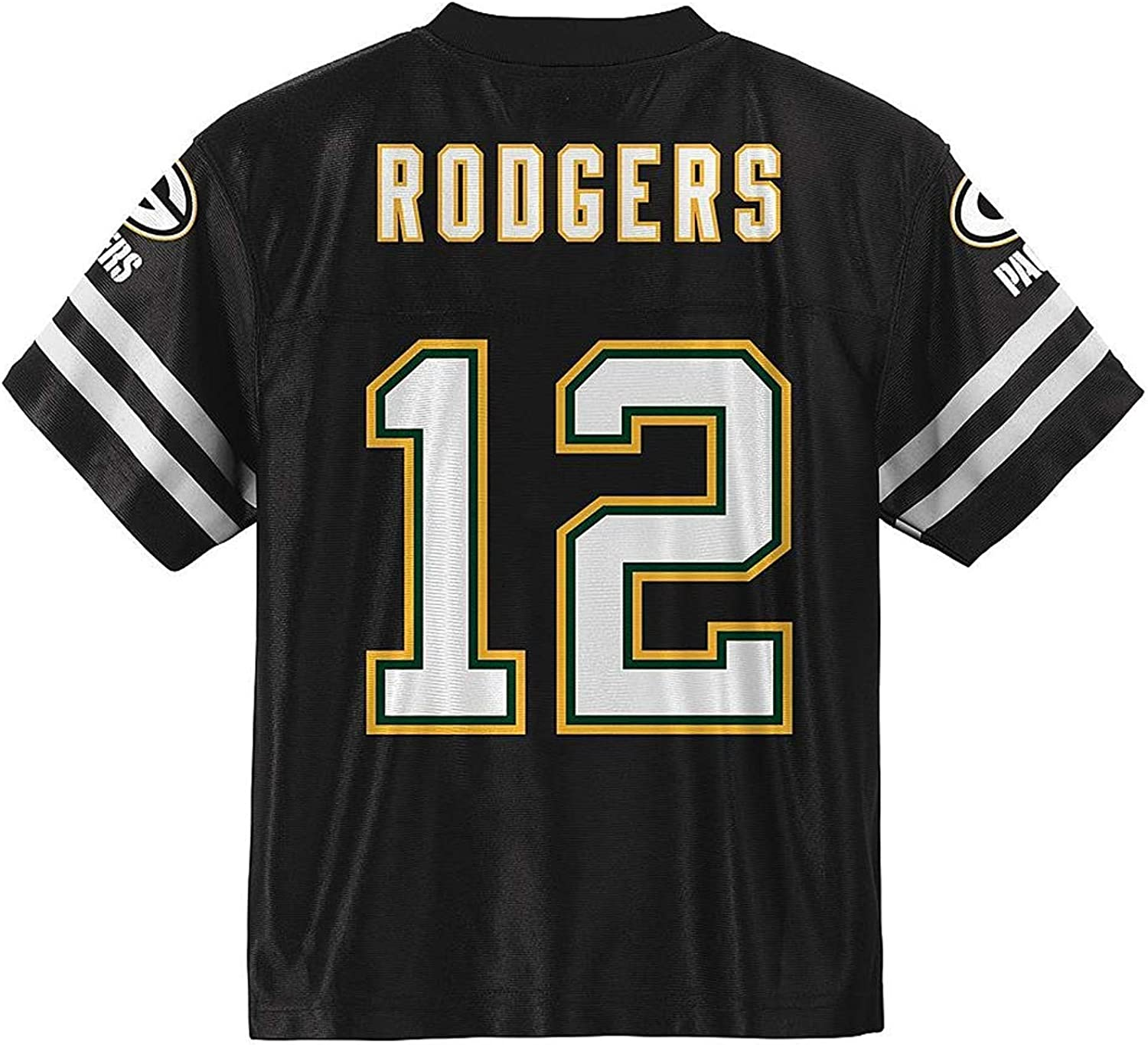 Aaron Rodgers Green Bay Packers Blackout Youth Alternate Player Jersey