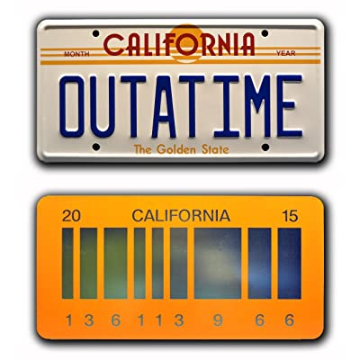 Celebrity Machines Back to The Future | Outatime + 2015 | Metal License Plates: Automotive