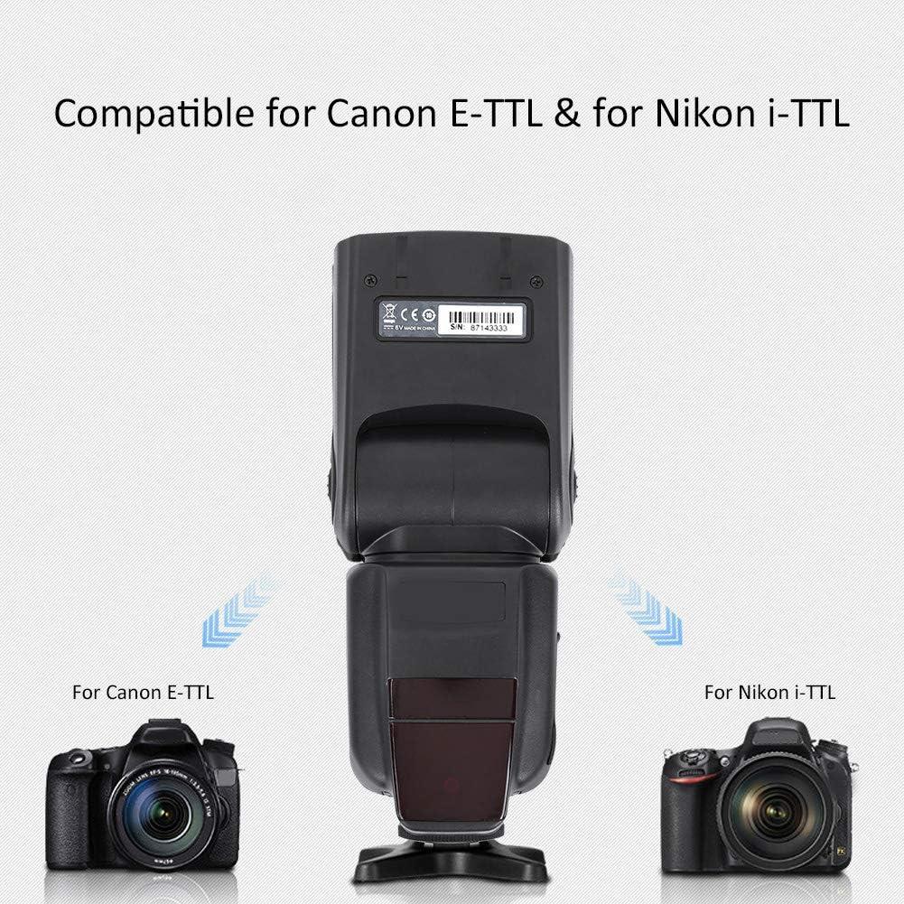 5500 K Camera Speedlite TRIOPO TR-982II TTL 1//8000 Wireless Master Slave Flash Light Filling Light for Canon E-TTL and for Nikon i-TTL SLR Camera