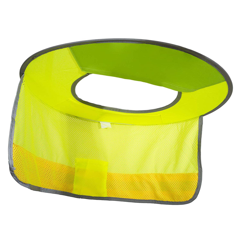 2 Pack Hard Hat Sun Shield,Full Brim Mesh Neck Sunshade for Hardhats,High Visibility,Reflective by Shine US (Image #1)