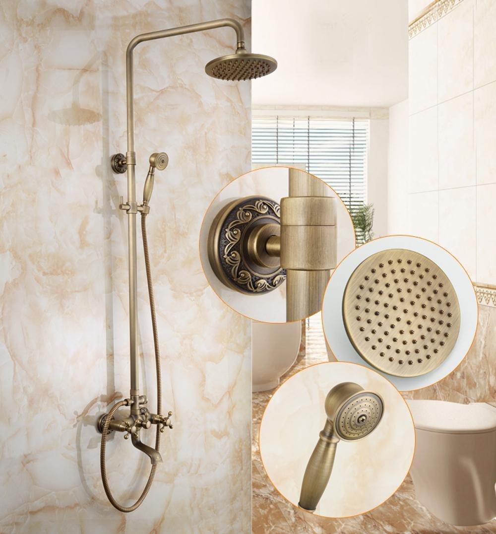 well-wreapped SAEKJJ-European Copper Antique Adjustable Shower Shower Set , B5 Bathroom faucet