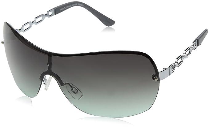 1db89084cdb Amazon.com  Southpole Women s 441sp-slvgy Shield Sunglasses