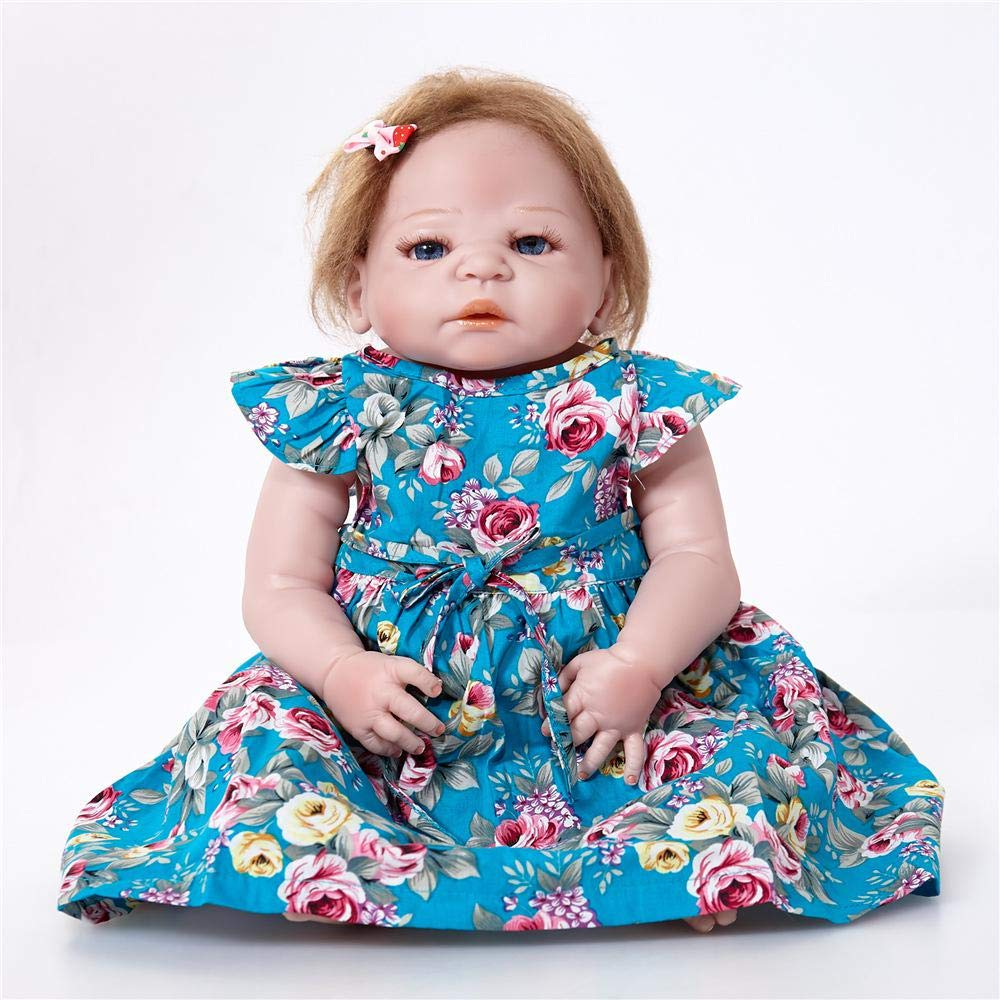de moda SONGXM Reborn Bebé Muñeca de 23 pulgadas con con con cheongsam bebé vivo muñeca resurrección 58 CM bebé recién nacido muñeca de renacimiento niños juguete regalo de cumpleaños de Navidad regalo  calidad auténtica