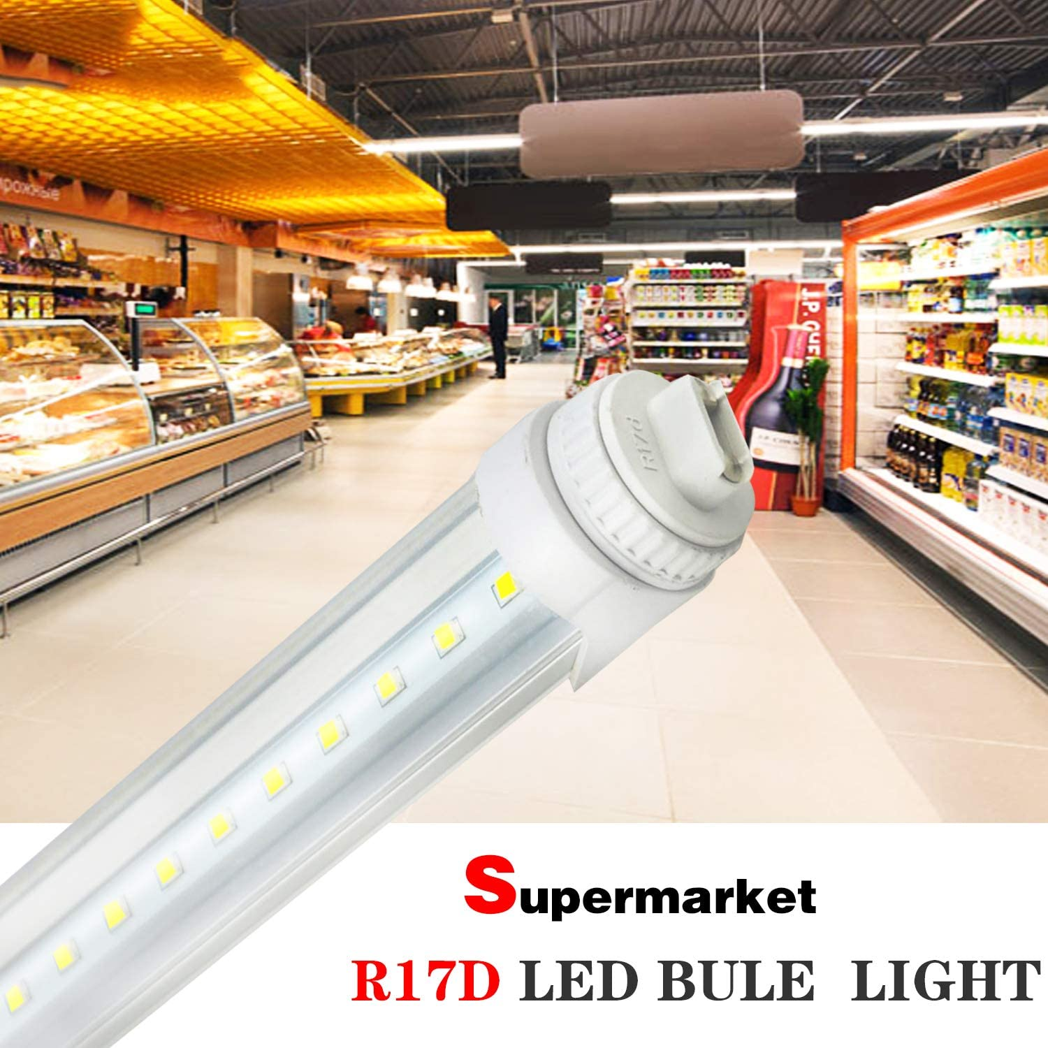 R17D 6FT 10Pack 30W R17D Base 6Ft LED Tube Light Fluorescent Replacement for F72T12//CW//HO