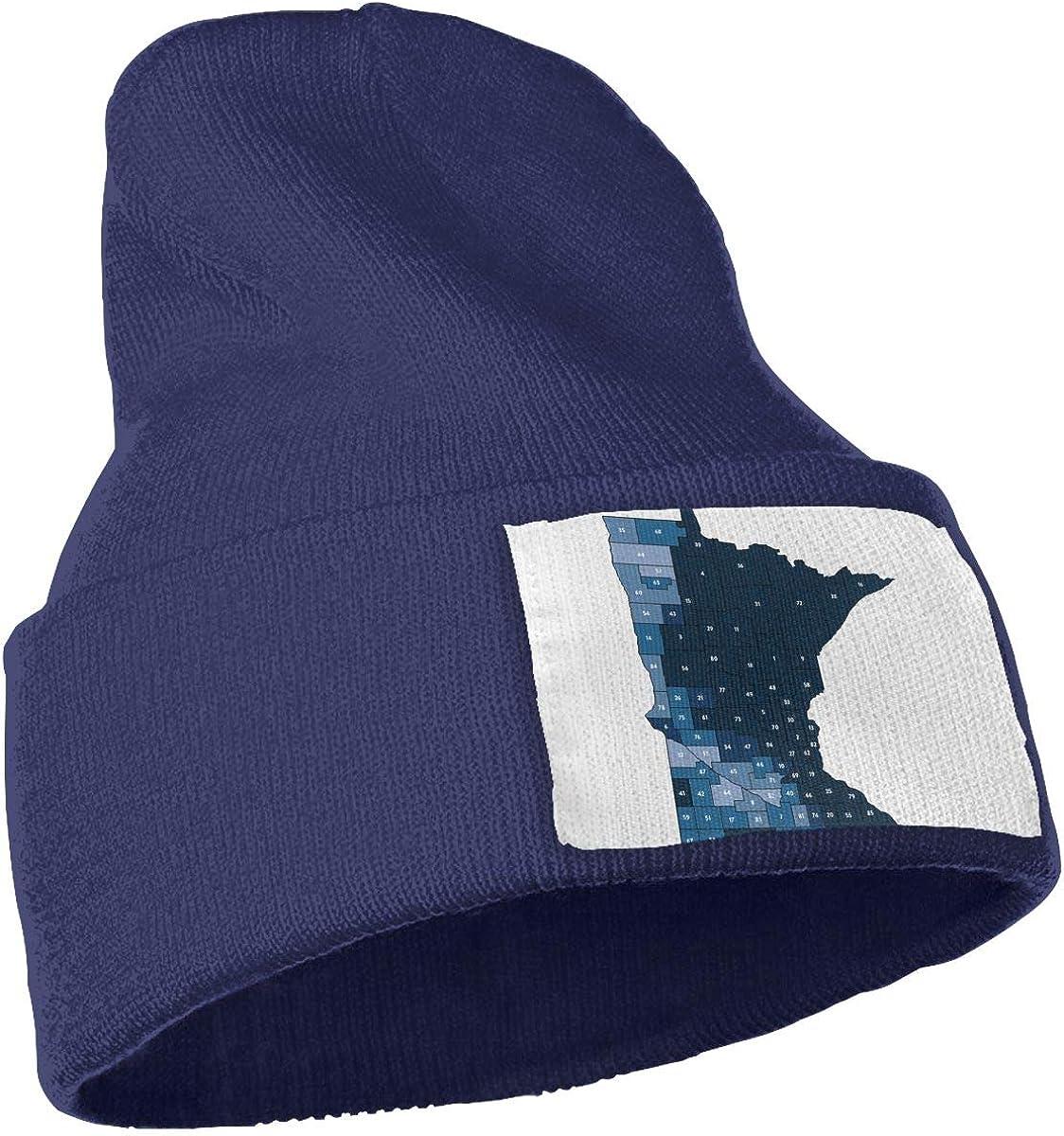 QZqDQ State of Minnesota Unisex Fashion Knitted Hat Luxury Hip-Hop Cap