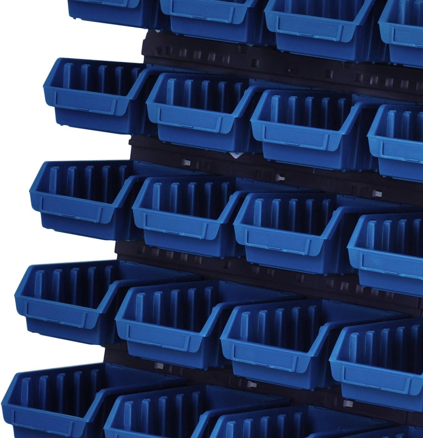 63 K/üvetten 117 x 210 x 75 mm Rot Wandregal Lagerregal Werkzeugwand Stapelboxen Wandpaneel Werkstatt Lager