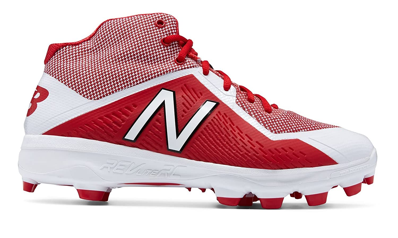 (ニューバランス) New Balance 靴シューズ メンズ野球 Mid-Cut TPU 4040v4 Red with White レッド ホワイト US 15 (33cm) B0758D5LQ1