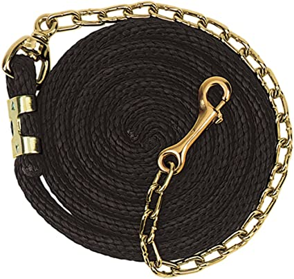 GREEN 10/' Western Braided Cotton Lead w// Brass Chain /& Snap NEW HORSE TACK!!