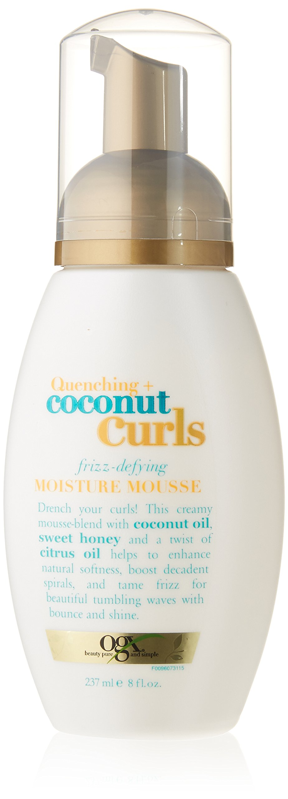 OGX Quenching Plus Coconut Curls Mousse, 8 Fluid Ounce by OGX