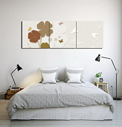 LB Pittura decorativa moderna,trifoglio,uccello,farfalla_Moderno ...