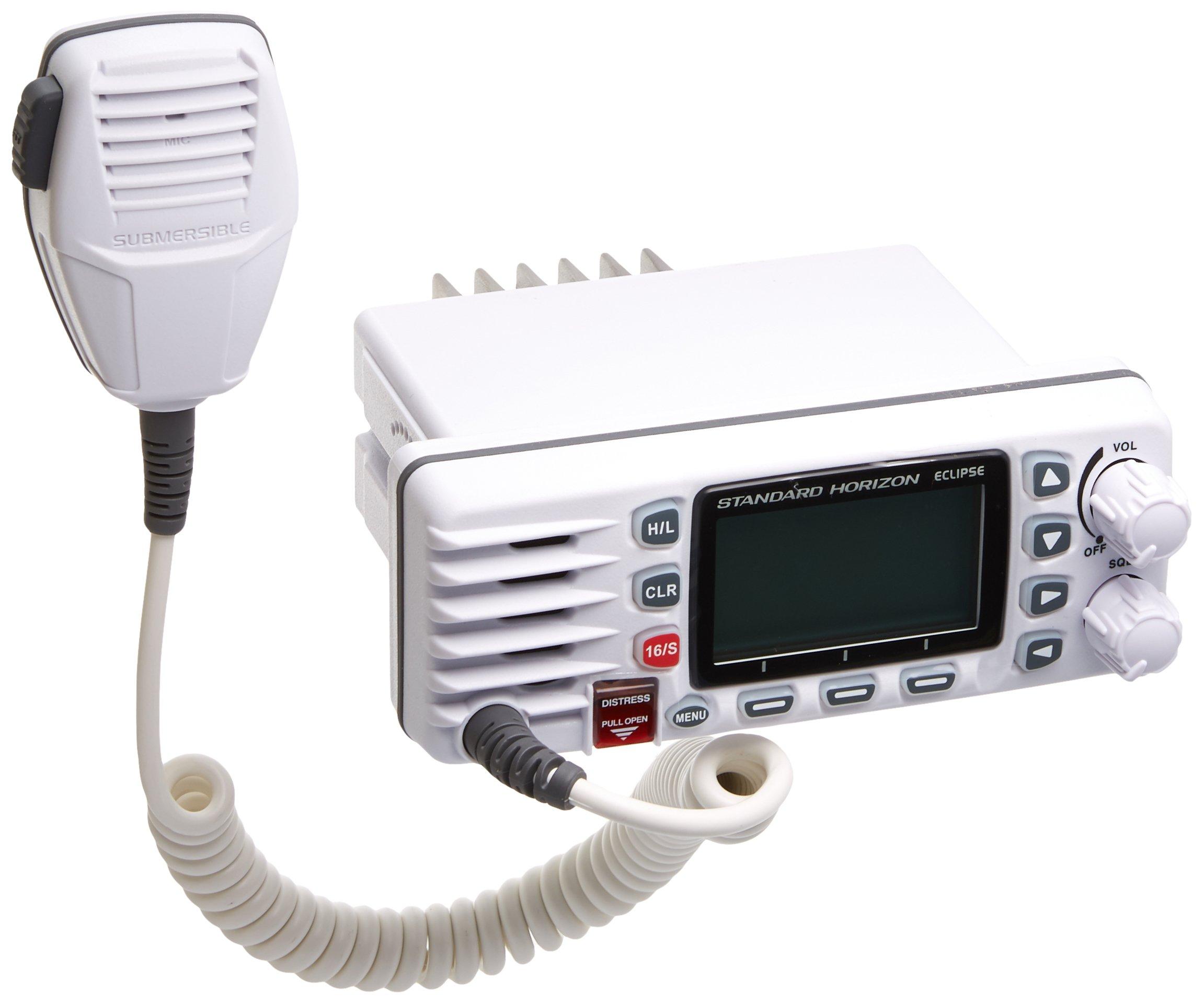 Standard Horizon GX1300W Eclipse GX1300B Fixed Mount VHF Radio (White) by Standard Horizon