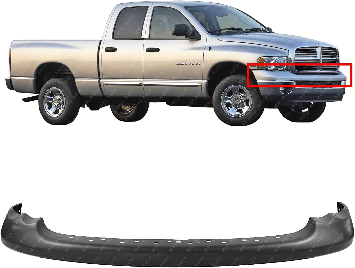 amazon com mbi auto primered front bumper upper cover for 2002 dodge ram 1500 2003 2005 ram 1500 2500 3500 pickup 03 04 05 ch1000338 automotive mbi auto primered front bumper upper cover for 2002 dodge ram 1500 2003 2005 ram 1500 2500 3500 pickup 03 04 05 ch1000338