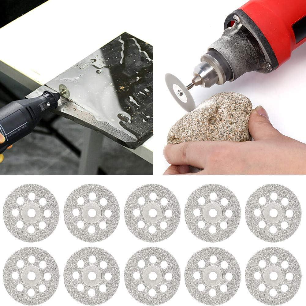 Wrighteu Lot de 30 lames de scie circulaire Mini HSS en acier haute vitesse Rotation pour Dremel Lames Convient pour le bois