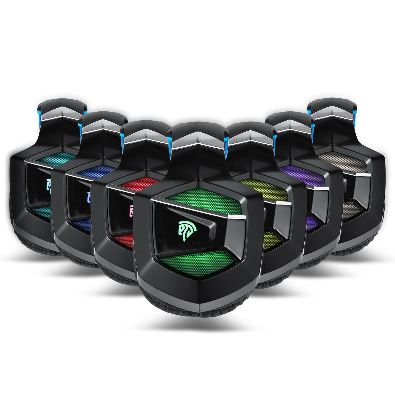 EasySMX Cascos Gaming, K5 Gaming Headset con Drivers Neodimio 40mm, Auriculares PS4 con 3,5mm Audio Jack y Micrófono Oculto, Compatible con PC, ...