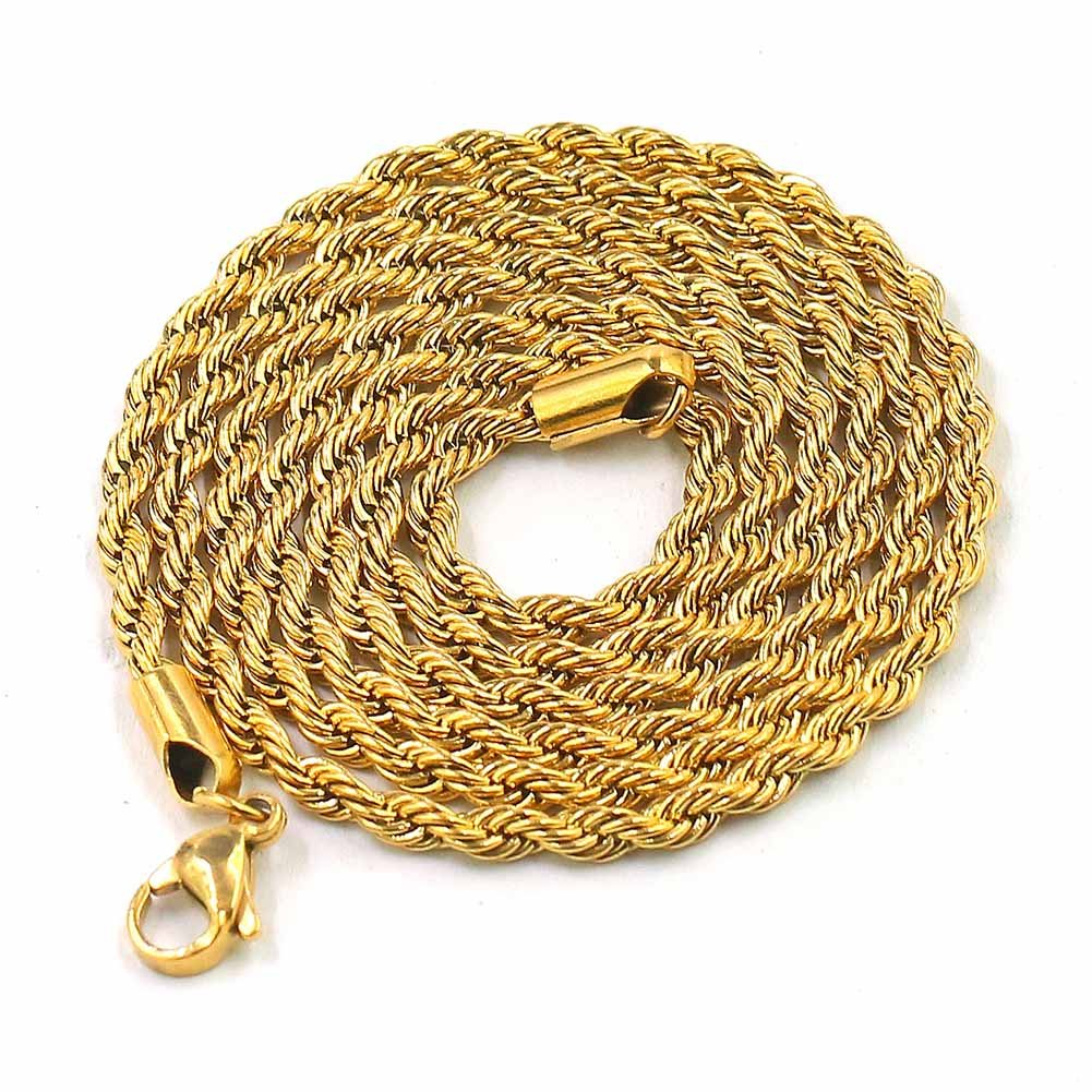 JINAO 18k Gold Plated ICED Out Toilet Roll Dollar Sign Pendant Necklace by JINAO (Image #6)
