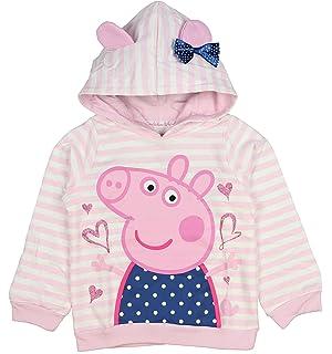 612f6875c Peppa Pig Hooded Coat Fleece Lined Padded Jacket Shower Proof Zip Up ...