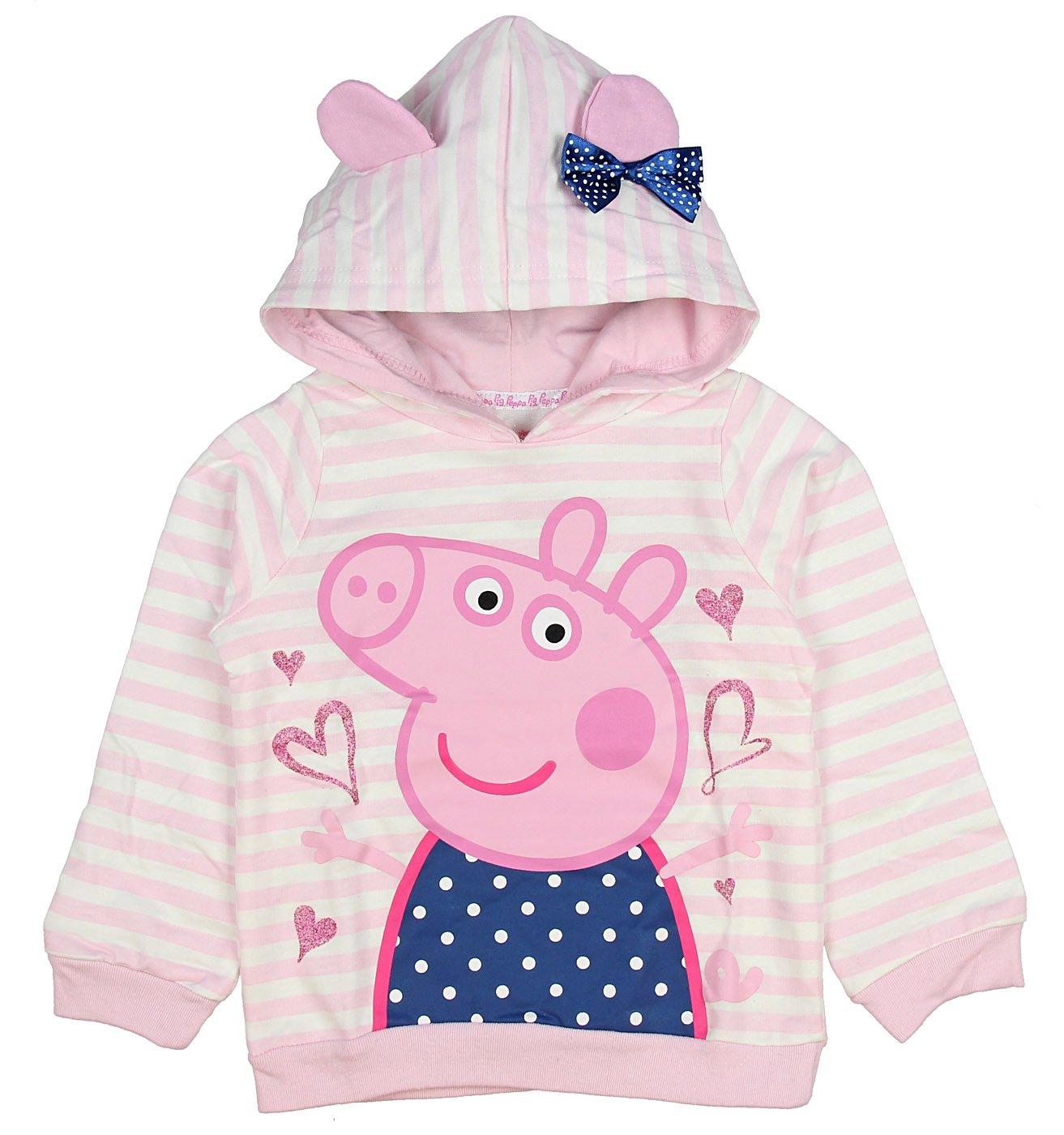Peppa Pig Little Girls Toddler Lightweight Pullover Hoodie (5T)