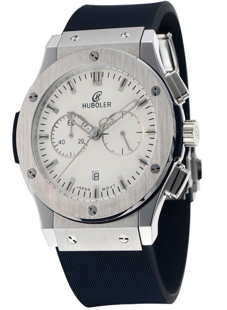 huboler Men 's QuartzファッションArder腕時計ダイヤルブラックhbl-019 ホワイト2 B01FNNU2KG ホワイト2 ホワイト2