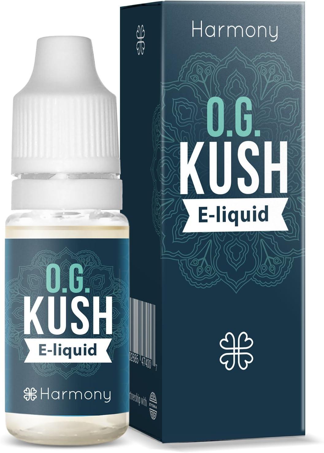 Harmony E-líquido de CBD (más de 99% pureza) - Terpenos de OG Kush - 300 mg CBD en 10 ml - Sin Nicotina