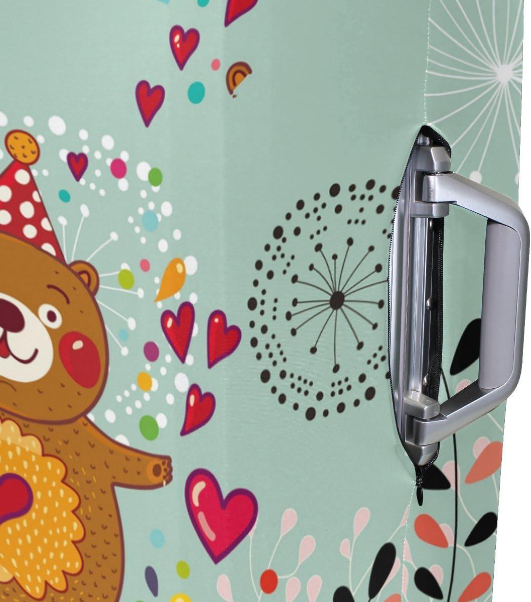 OREZI 3D Cute Bear Luggage Protector Suitcase Cover 18-32 Inch