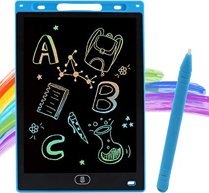 10 Inch Digital Ewriter Doodle Pad Drawing Tablet Message Board with Stylus for Kids Saving Pens and Papers Colourful LCD Writing Tablet