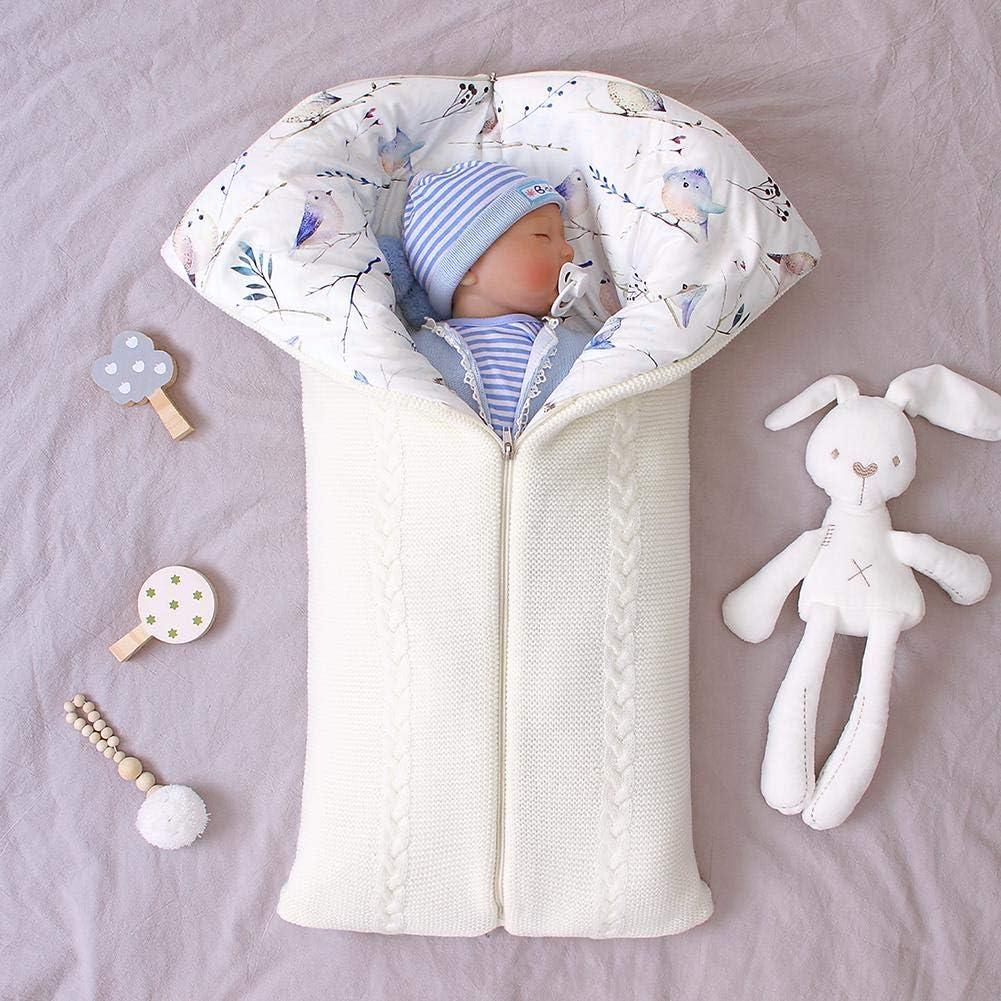 Baby Wickeldecke Universal Baby Kinderwagen Kinderwagen Unisex Muff Dickes Baby Kinder Kleinkind Stricken Weiche Warme Fleecedecke Neugeborenen Schlafsack F/ür Jungen M/ädchen 0-12 Monate