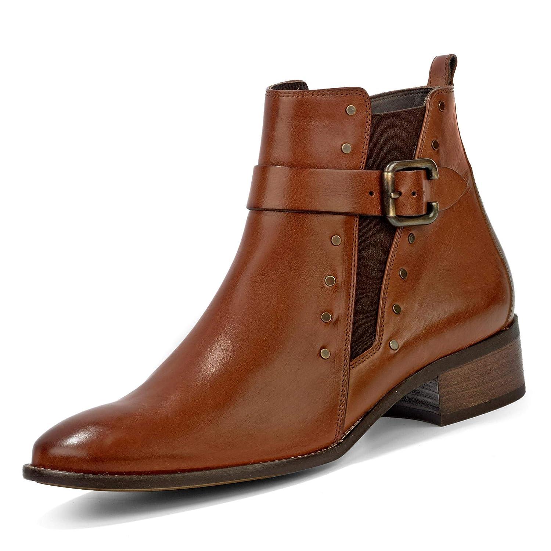 paul green Damen Stiefel Stiefelette Boots elegant braun 9190 003