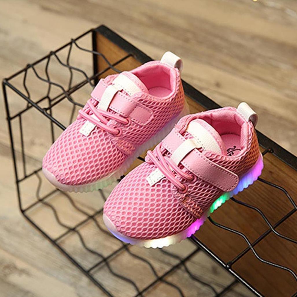 Oyedens Mode Sneakers B/éb/é Gar/çon Fille LED Lumineuse Unisex Enfants Baskets Gar/çons Filles Chaussures de Sport Antid/érapantes Feux Clignotants Chaussures De Course Outdoor 1 /à 5.5 Ans