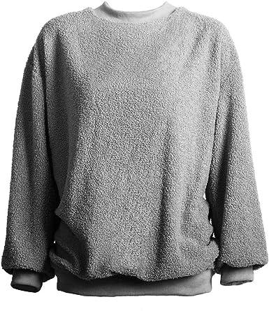 Bahoto Nuevo Suéter De Piel De Manga Larga Felpa Suéter De Peluche Abrigo De Mujer Camisa