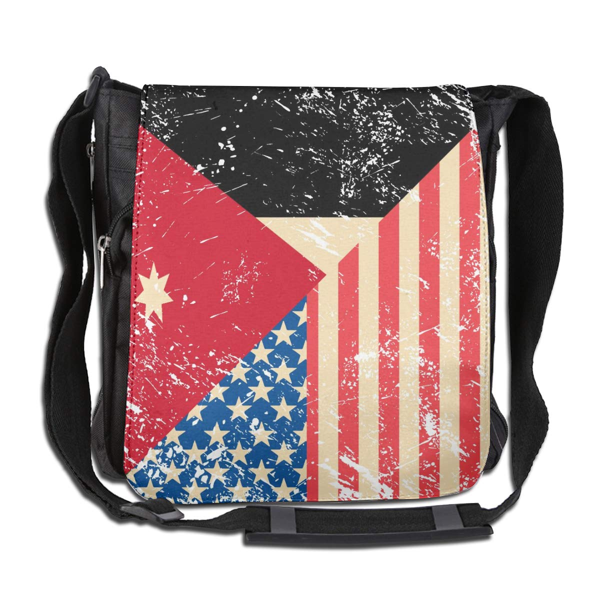 Unisex Stylish Satchel Messenger Bags American And Jordan Retro Flag Crossbody Shoulder Bag Hiking Bags For School//Work//Trips