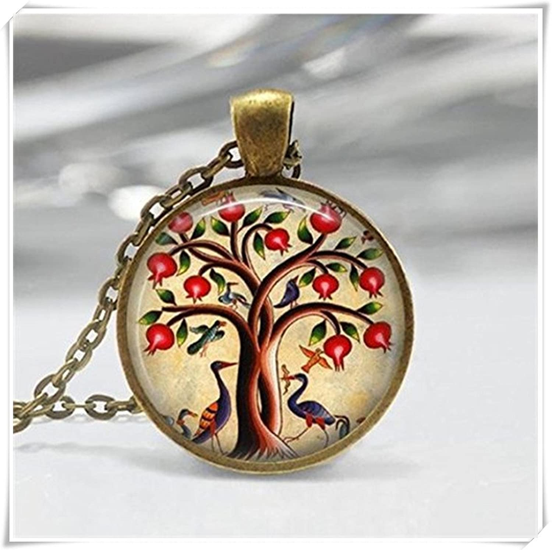 Árbol de la vida collar colgante árbol de Granada fruta naturaleza